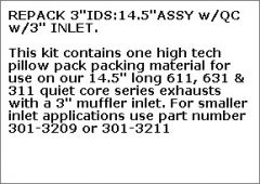 "REPACK 3""IDS:14.5""ASSY w/QC w/3"" INLET"