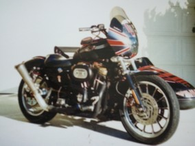 2003 Sportster w/ English Sidecar